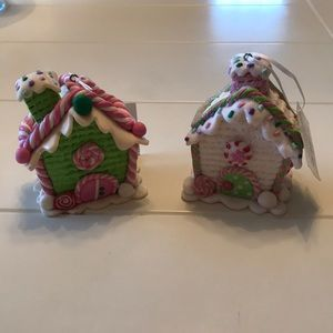 Girly candy house Christmas ornaments